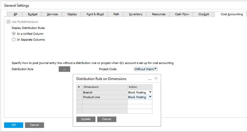 how to cancel landed cost in sap b1
