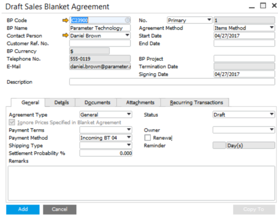 Blanket-Agreement-in-SAP-Business-One-1