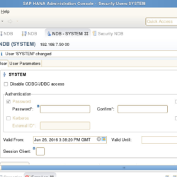 Reset the HANA SYSTEM User password