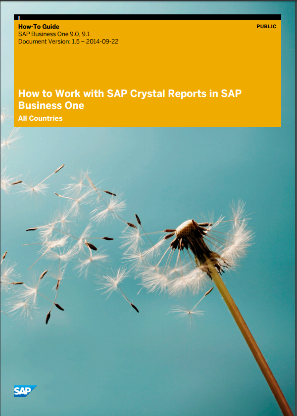 Crystal Reports in SAP Business One